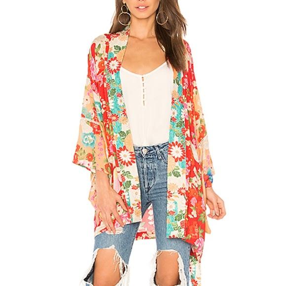 "b49b7c0f394 Spell the Gypsy ""Delilah Short Patchwork Kimono"""